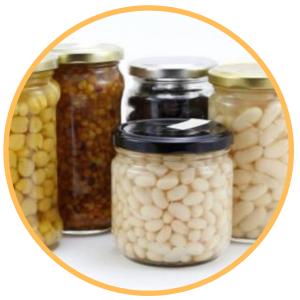 Conservas de verduras y legumbres